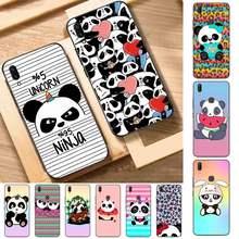 FHNBLJ Animal divertido Panda caja del teléfono para Vivo Y91C Y11 17 19 53 81 31 91 55 V17 11i 9 para oppo