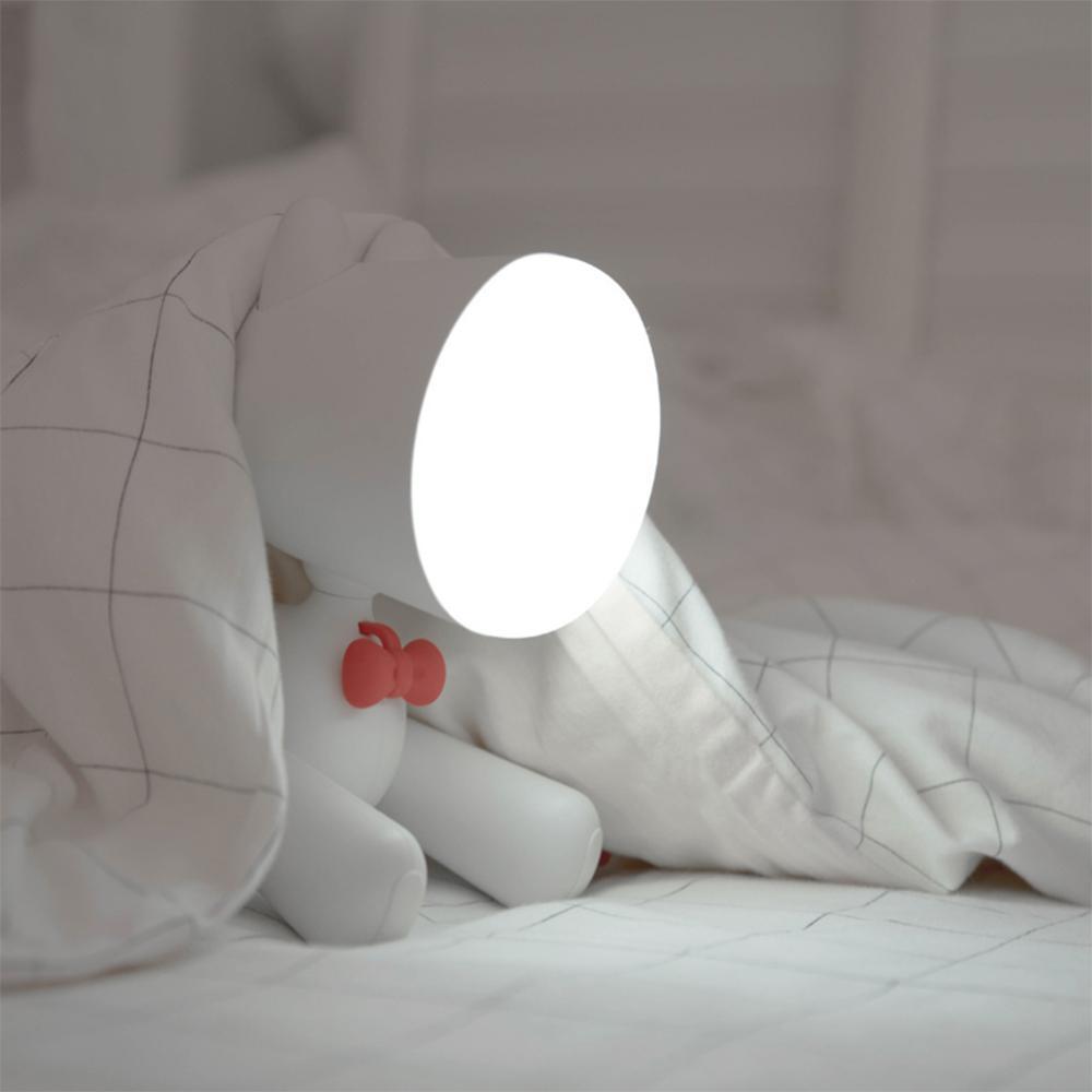 Гибкая Настольная лампа для собак, светодиодная USB перезаряжаемая лампа с регулируемой яркостью, Ночной светильник с изображением щенка