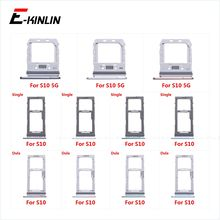 Sim Card Tray Socket Slot Reader Adapter For Samsung Galaxy S10 5G G973 G977 Micro SD Card Holder Connector Container Parts
