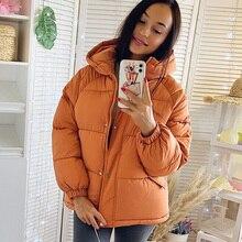 Chaqueta de parka para mujer, chaqueta con capucha de invierno sólido grueso a la moda, abrigo, Parkas de invierno, prendas de vestir sólidas, novedad de 2020