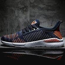Мужские повседневные текстильные кроссовки оранжевые легкие удобные спортивные туфли со шнуровкой пропускающие воздух на кроссовки мужские резиновой подошве обувь мужская