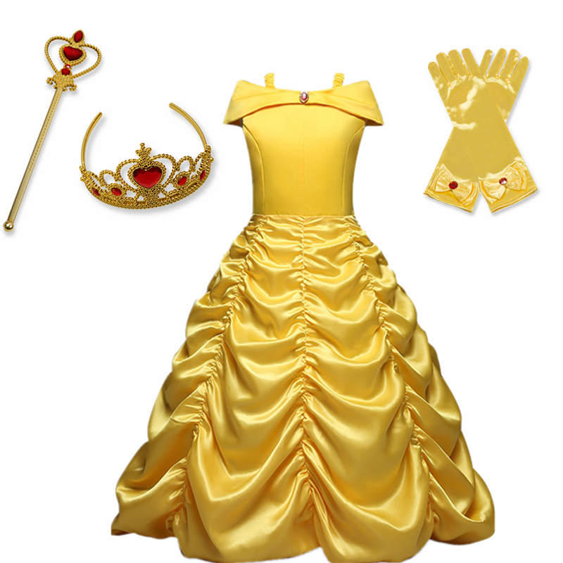 Girls Cosplay Princess Dress Halloween Costume for Children Kids Girls Party Dresses 1