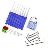3 в 1 слесарный поставщик набор инструментов, набор инструментов для извлечения сломанного ключа и прозрачный замок практический набор, деш...