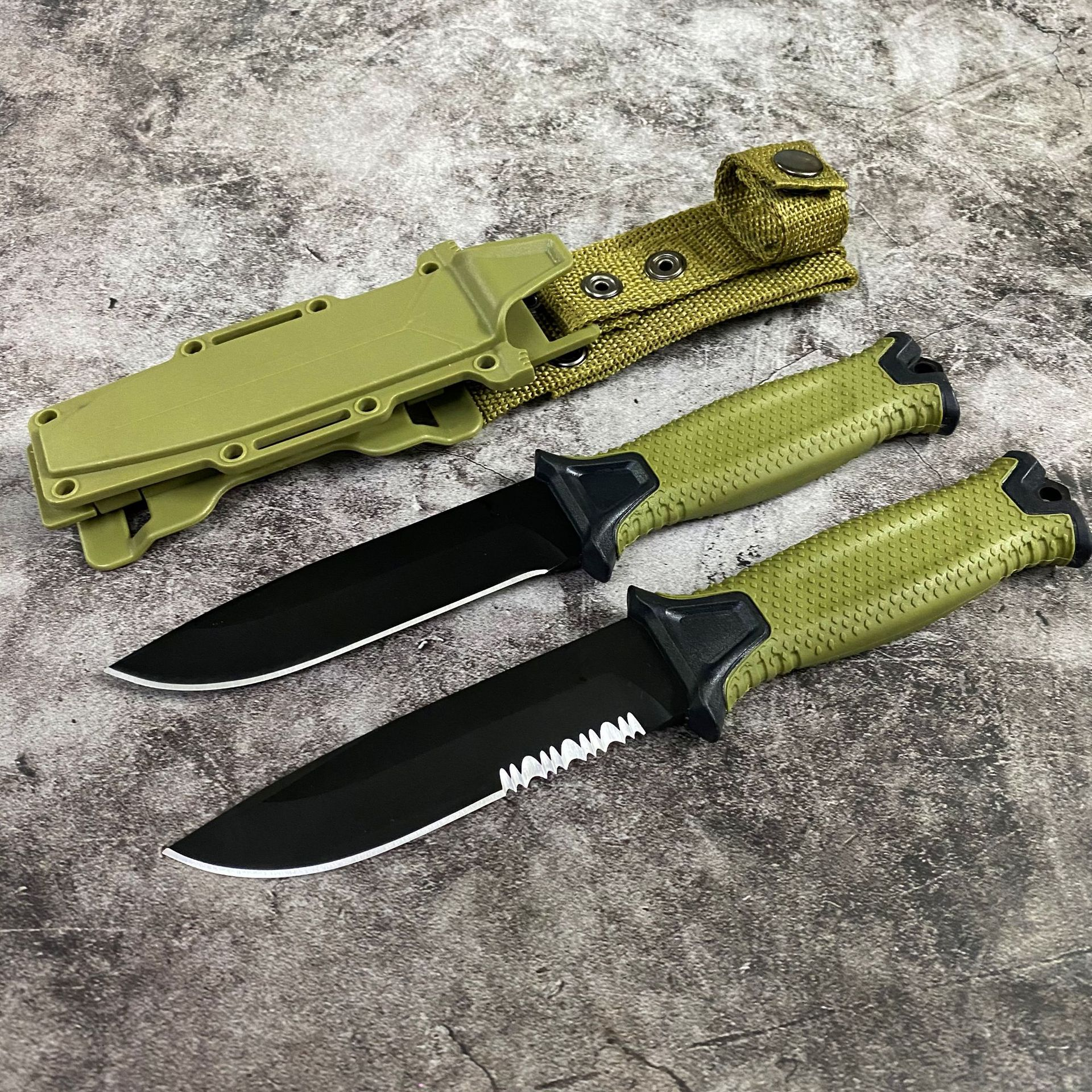 Knife Hunting Blade 2 Knife Tactical Blade Survival LMF Camping EDC Wildness Handle GB Tool Knives Fixed 7CR17MOV ABS Knives