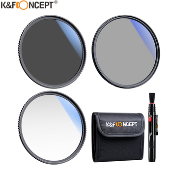 K&F Concept Filter Kit Netural Density ND4 MC UV CPL filter Camera Lens Bundle 1pcs Cleaning Pen and Filter Pouch 58mm 62mm 67mm 1