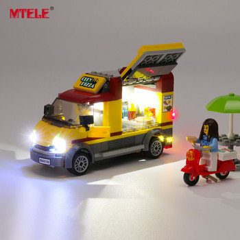 MTELE Brand LED Light Up Kit For City Series Pizza Van Lighting Set Compatile With 60150 (NOT Include The Model) цена 2017