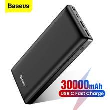 Chargeur de batterie externe portatif d'usb C 30000 mAh de batterie de puissance de Baseus 30000 mah Charge rapide pour Xiaomi Mi iPhone Samsung