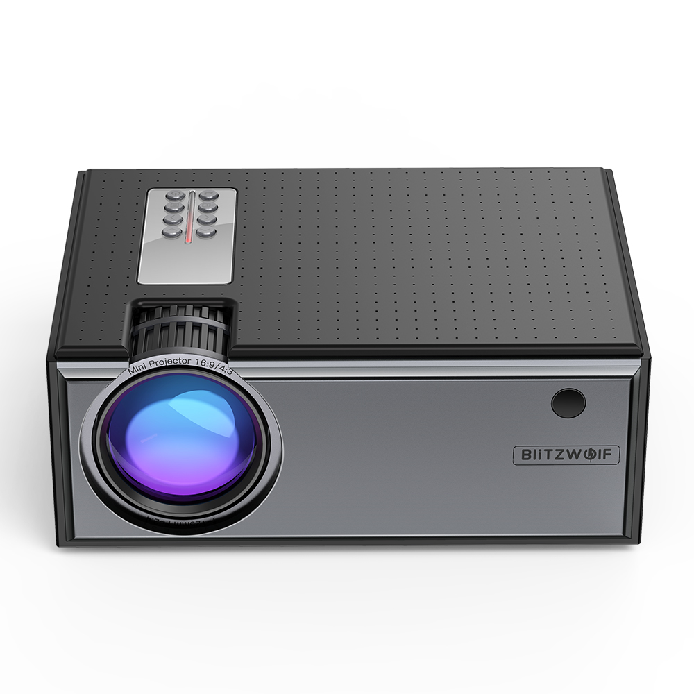 Blitzwolf BW-VP1 ЖК-проектор 2800 люмен поддержка 1080P вход несколько портов Портативный Умный домашний кинотеатр с пультом дистанционного управлени...