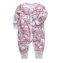 Комбинезон для новорожденных; пижама для девочек хлопок, 3, 6, 9, 12, 18, 24 месяцев младенческой Мальчики Костюмы