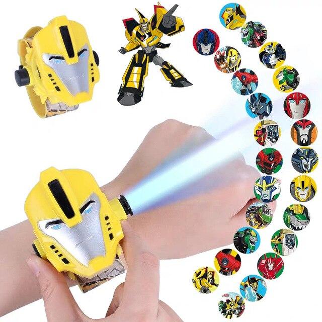 3D Projection Spiderman Ironman Child Watches Kids Cartoon Pattern Mickey Girls Watch Digital Wristwatches Relogio Masculino