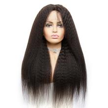 13×4 Brazilian Hair Remy Kinky straight Wig Natural Black Lace Frontal Real Elite Human Hair Wig Womens Human Hair Wig Baby Hair