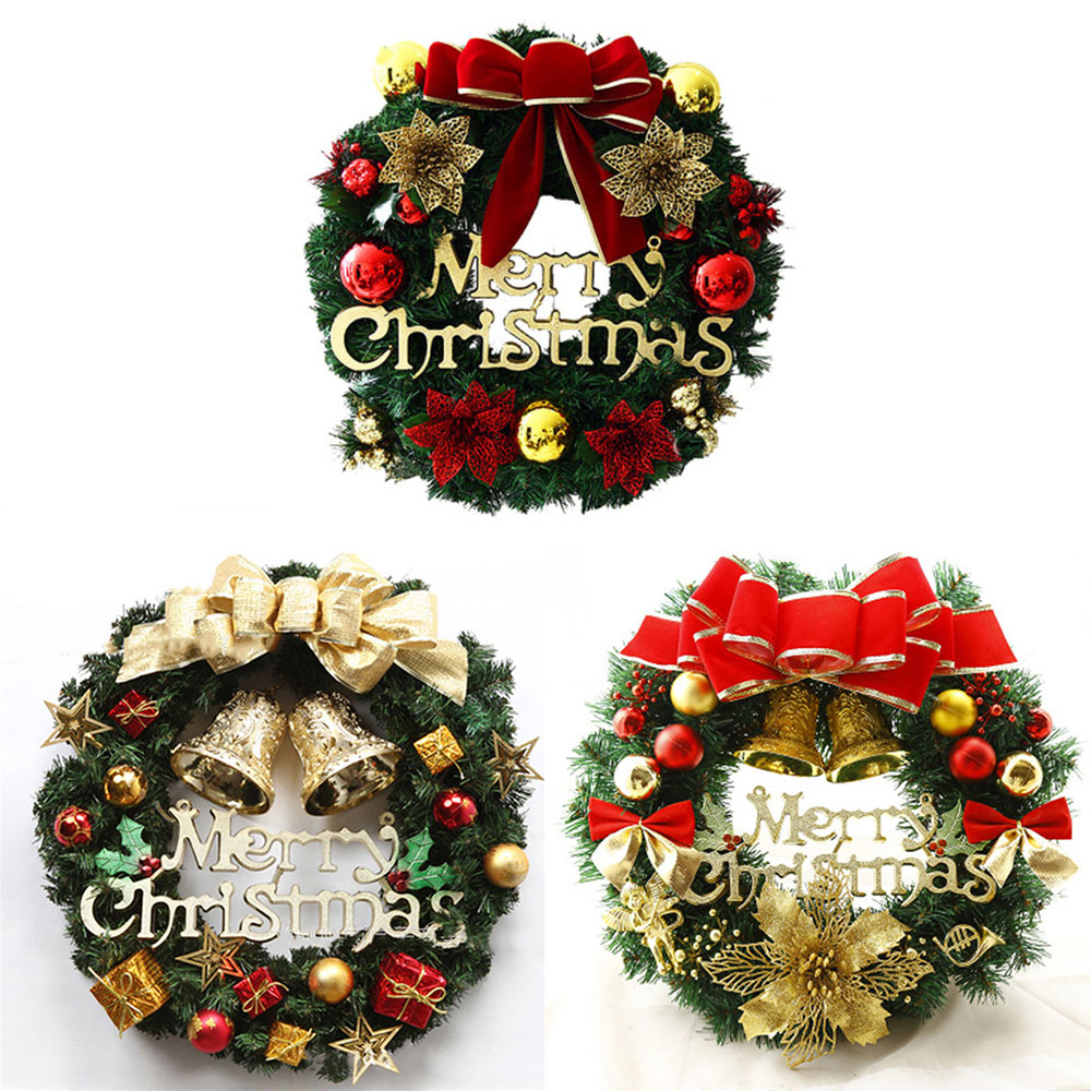 Garland Decoration Colorful Window Door Pendant Charistmas Wreath PVC DIY Craft Hotel Home NEW Flower Supplies