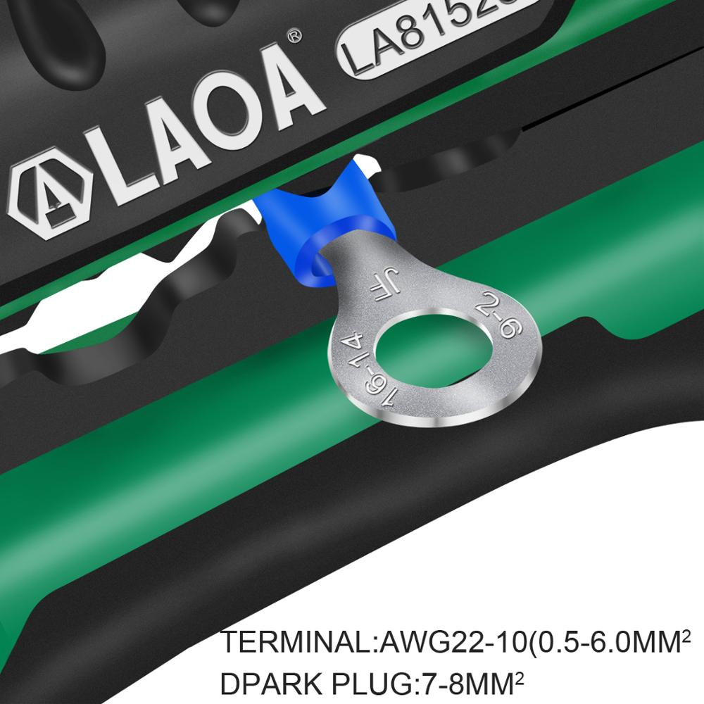 Tools : LAOA Automatic  Wire Stripper Tools Professional Electrical Cable stripping Tools For Electrician Crimpping Made in Taiwan