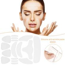 16 шт./компл. многоразовые силиконовые анти-морщинки уход за кожей лица наклейка на лоб для щек, подбородка Стикеры лицевые Пластыри для удаления морщин полоски