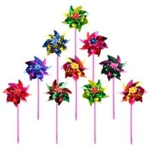 Toy Pinwheel Plastic Windmill Wind-Spinner Garden Kids Gift 10pcs Party-Decor Lawn Random-Color
