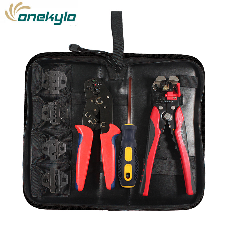 Electrical Terminal Ratchet Crimping Crimper Auto Electrician Tool Set For Increased Durability Soft Handle Comfortable To Use