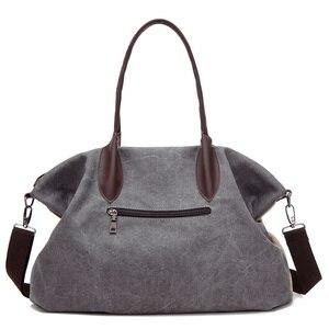 Image 3 - PILER Casual Big Frauen Tasche Handtaschen Leinwand Schulter Taschen Hobo Große Crossbody tasche Handtasche Einkaufstaschen für Frauen Umhängetasche