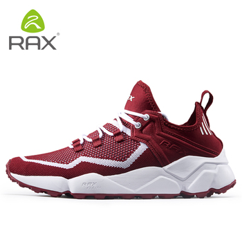 Rax Men Women Breathable Hiking Shoes Skidproof Wearable Travel Climbing Shoes Unisex Lace Up Non-Slip Sneakers D0859