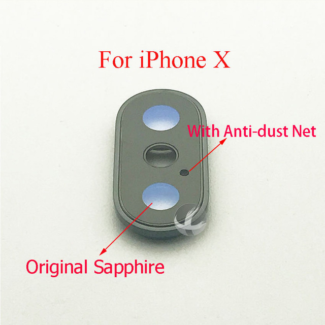 1pc 100% Original Sapphire For iPhone X XS Max XSM XR Back Camera Cover Lens Protector Glass Lens + Frame Quality AAA