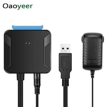 Oaoyeer 0.4m usb 3.0 sata cabos conversor macho para 2.5/3.5 Polegada hdd/ssd unidade adaptador de fio com fio converter cabos dropshipping
