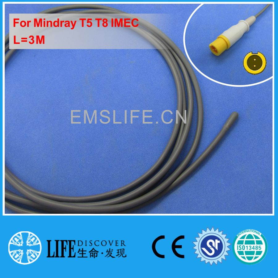 2019-Pediatric Esophageal Or Rectal Temperature Probe For Mindray T5 T8 IMEC Patient Monitor