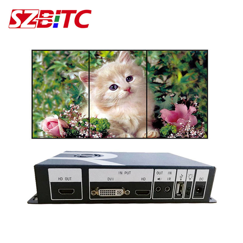 SZBITC Video Wall Controller 90/180/270 Degrees Video Rotation Processor HDMI USB DVI In Audio Out Video for LCD,TV image