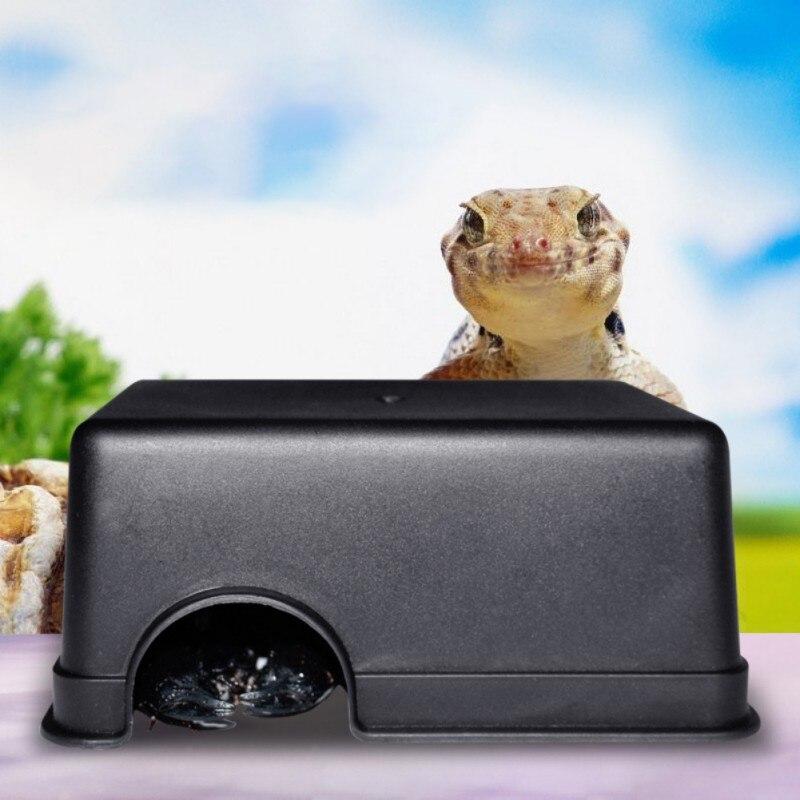 Snake Supplies Centipede Reptile Box Hiding Case Hole Water Feeder Spider Turtle 2019
