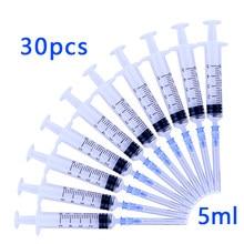 Одноразовый пластиковый промышленный шприц 5 мл с иглами стерильный инжектор 5 мл, 30 шт.