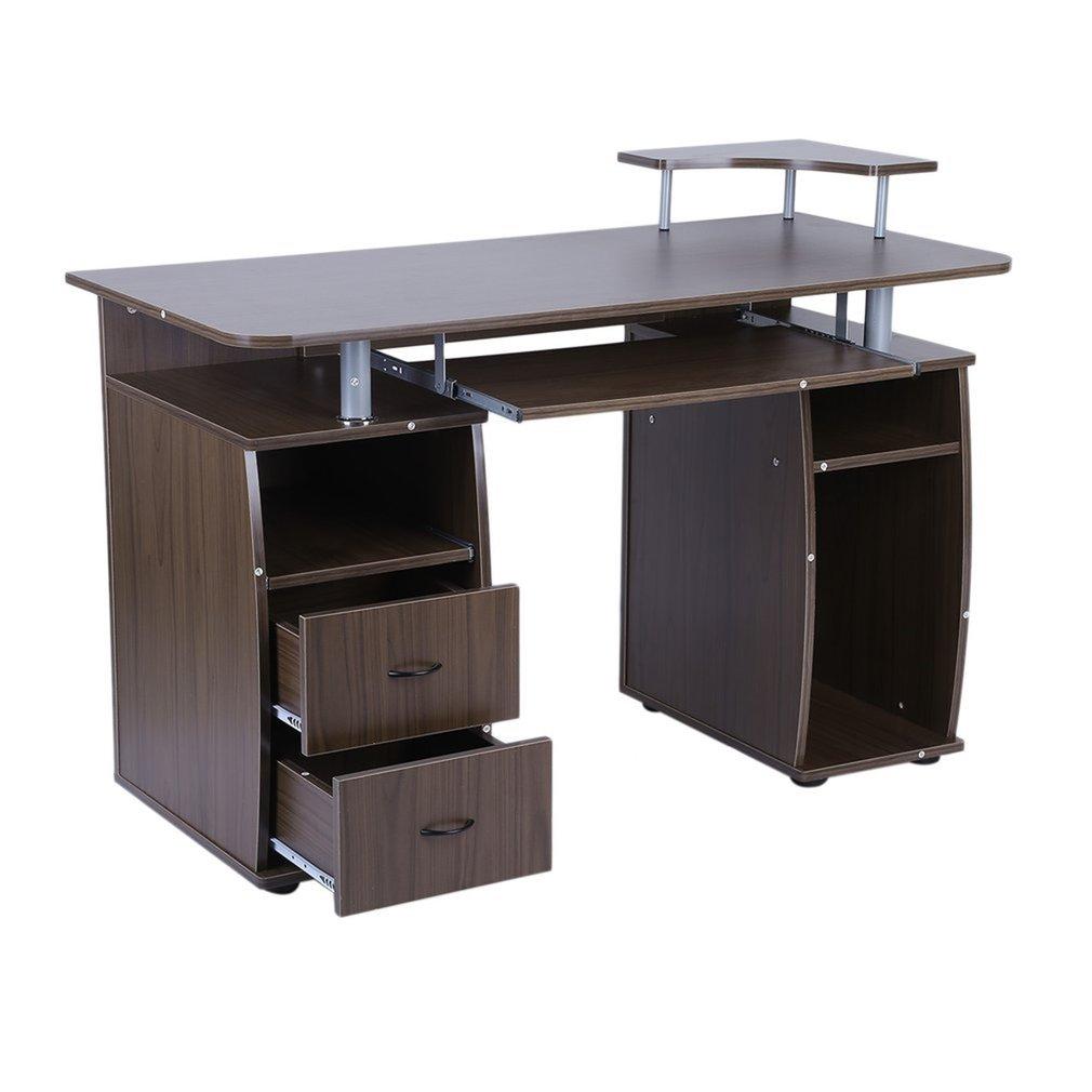 Stable Office Computer Desk Laptop Work Station Home Pc Table Notebook Desk With Elevated Printer Shelf Decorative Furniture Aliexpress Meja laptop dan printer