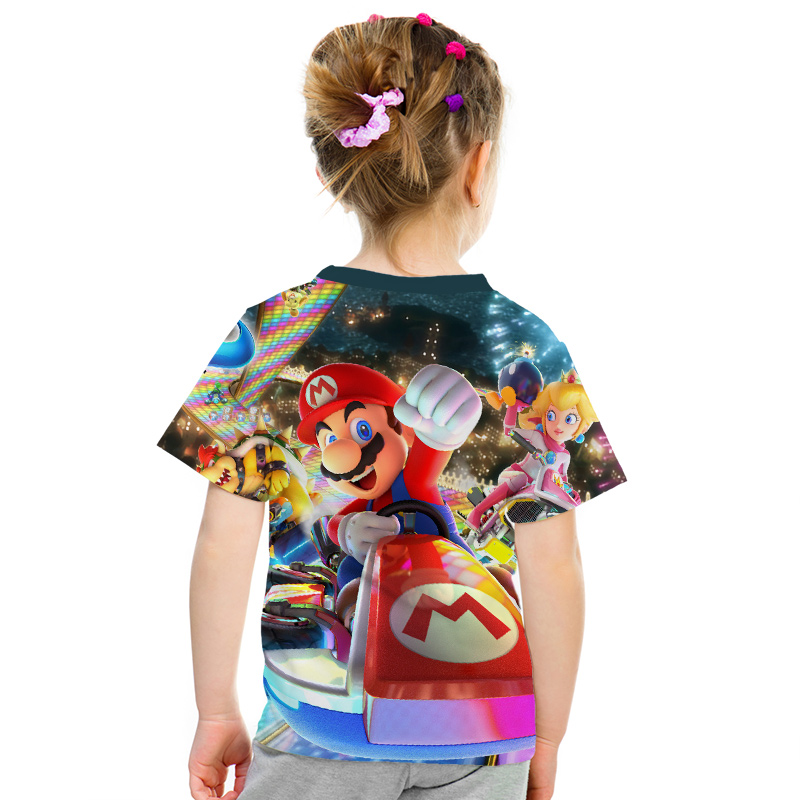 Image 5 - 2019 New Game Super Mary Kids Funny Tops T shirt Full Color O neck hrarjuku 3d Printed Tees Game boys girls Casual Clothing Kid-in Matching Family Outfits from Mother & Kids