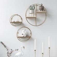 Nordic Metal Wall Shelf Nordic Wall Decor Golden Shelf For Living Room Decor Organizer