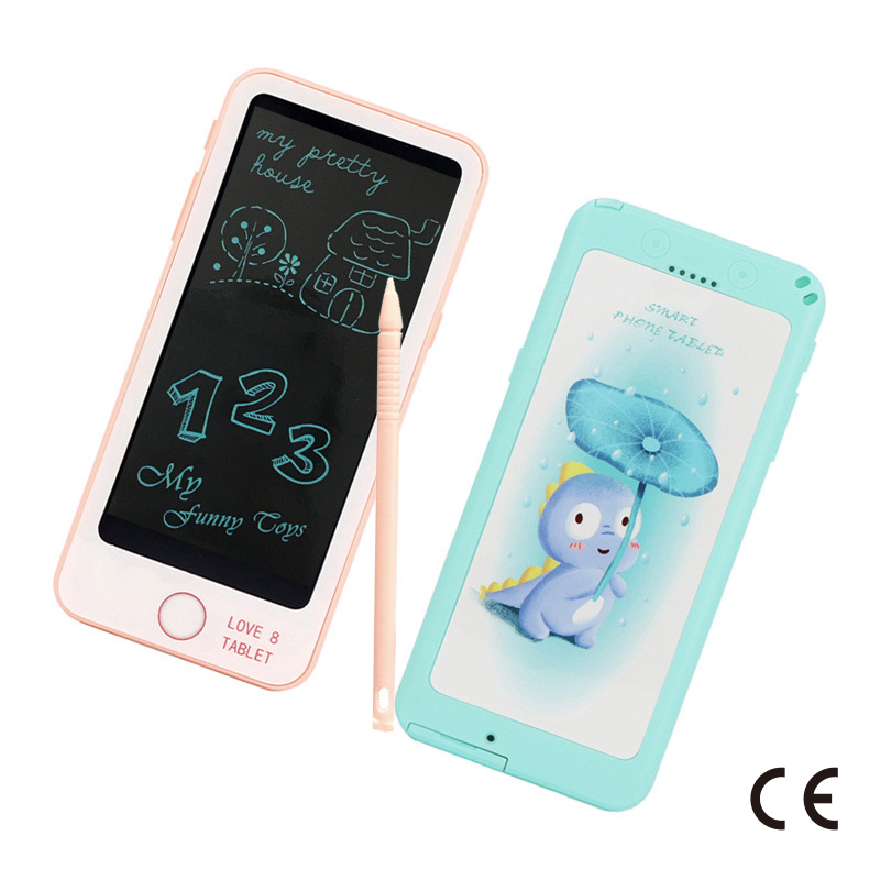 CE Certification 6Inch LCD Tablet Children'S Educational Early Childhood Writing Board Creative Painted Electronic Drawing Board
