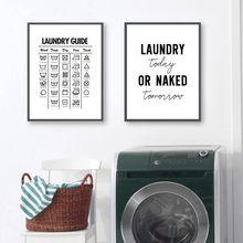 Estilo lavanderia, decoração de parede, simbolos de lavanderia, quadro de arte, pintura, lavanderia, imagem, decoração yx138