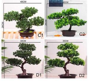 Image 5 - סימולציה אורחי ברכה האורן בונסאי искусственная ельTree מלאכותי צמח הסדר מקורה סלון שולחן דקור