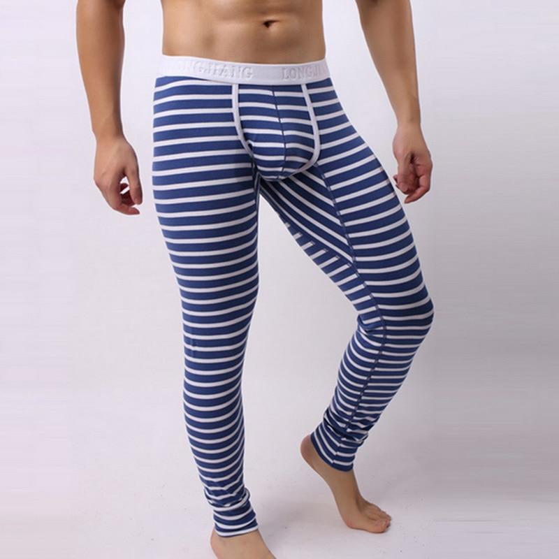 Dihope Jodimitty 2020 Men Long Johns Cotton Thermal Underwear Men Trousers Warm Long Johns Leggings Winter Warm Pants Striped