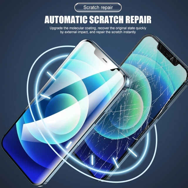 Full Cover Hydrogel Film For iPhone 7 8 Plus 6 6s Screen Protector 11 12 Pro mini XR X XS Max SE 2020 Back Soft Film Not Glass 5