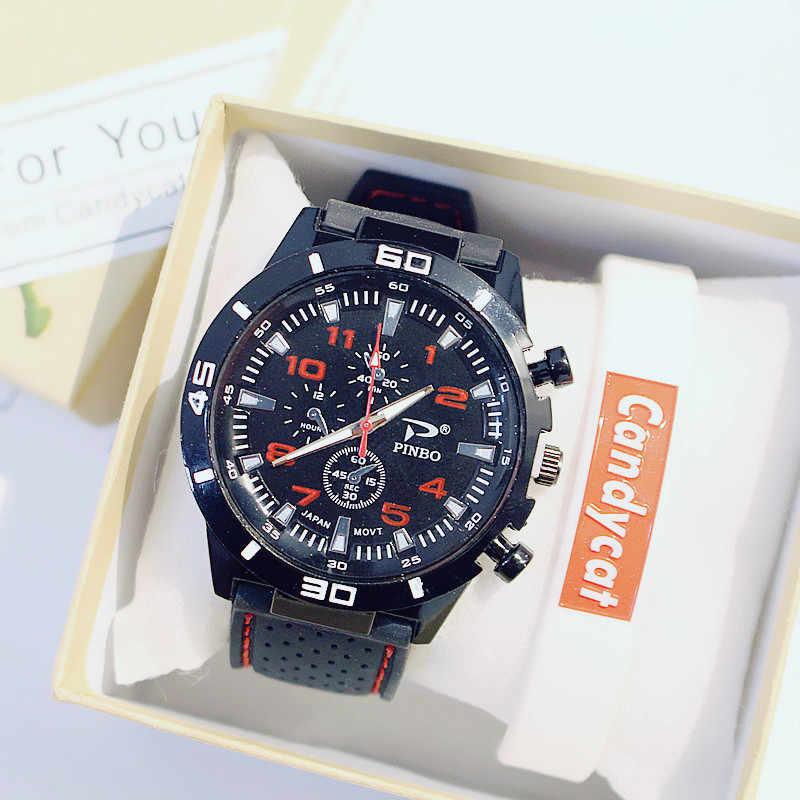 メンズ腕時計男の子女子学生ユースシンプルなトレンドレジャー高級スポーツメンズブラック時計クォーツカップルの腕時計relogios mujer