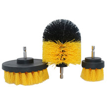 3 Piece set detergent bathtub brush car PP bristle drill bit attachment cleaning tool bathtub car mat cleaning tool electric