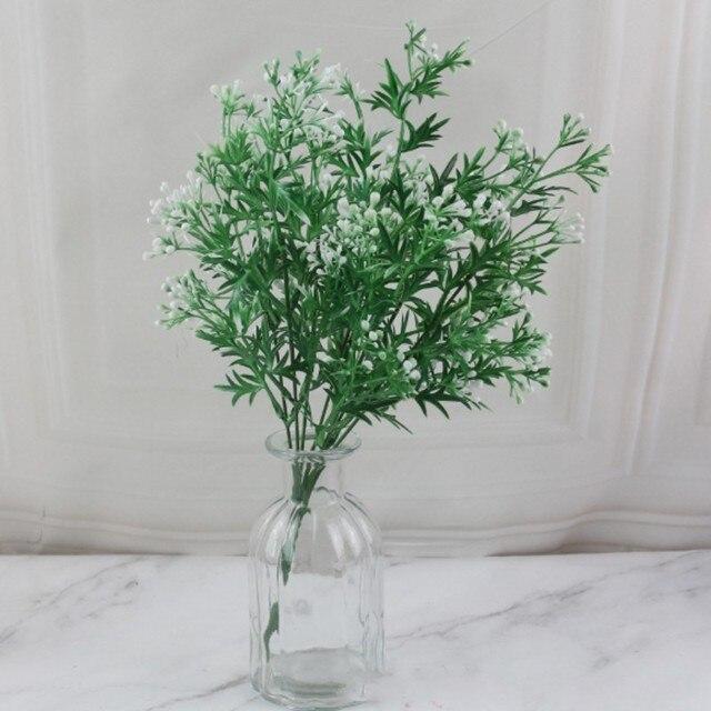 7 Fork Artificial Plants Eucalyptus Grass Plastic Ferns Green Leaves Fake Flower Plant Wedding Home Decoration Table Decors 4