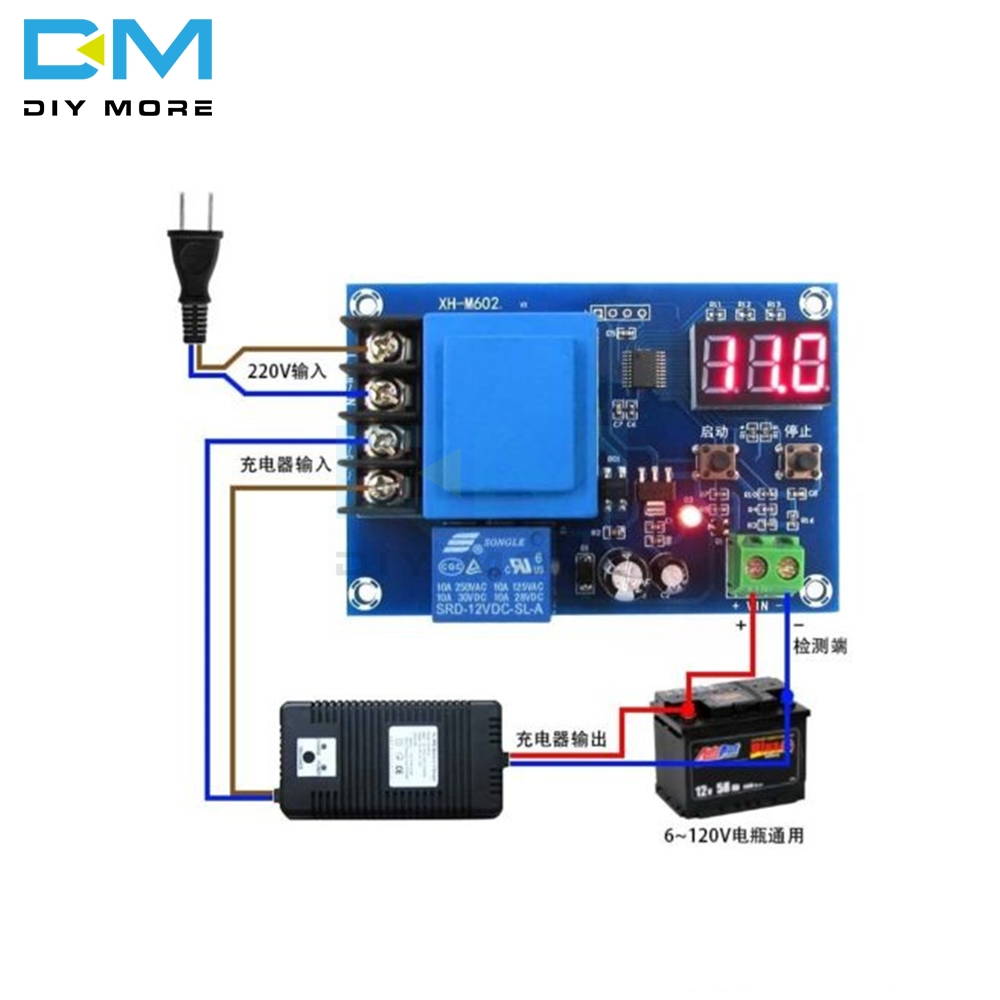 XH-M602 Digital LED CNC Lithium Battery Charging Charge Control Power Supply Module Switch Protection Board 3.7-120V