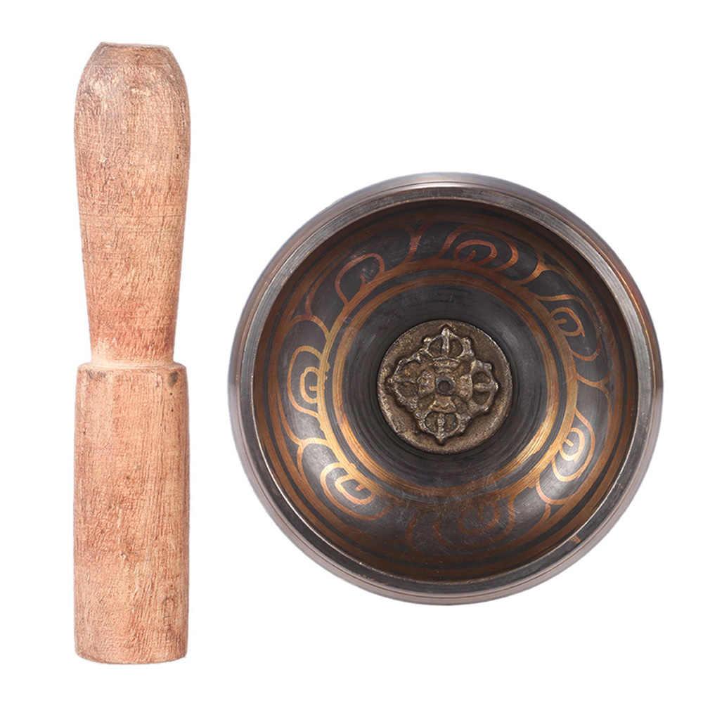 Nova Chegada 2.8 Polegada Metal Artesanal Sino com O Atacante para o Budismo Tibetano Budista da Bacia do Canto Meditação Relaxamento Cura