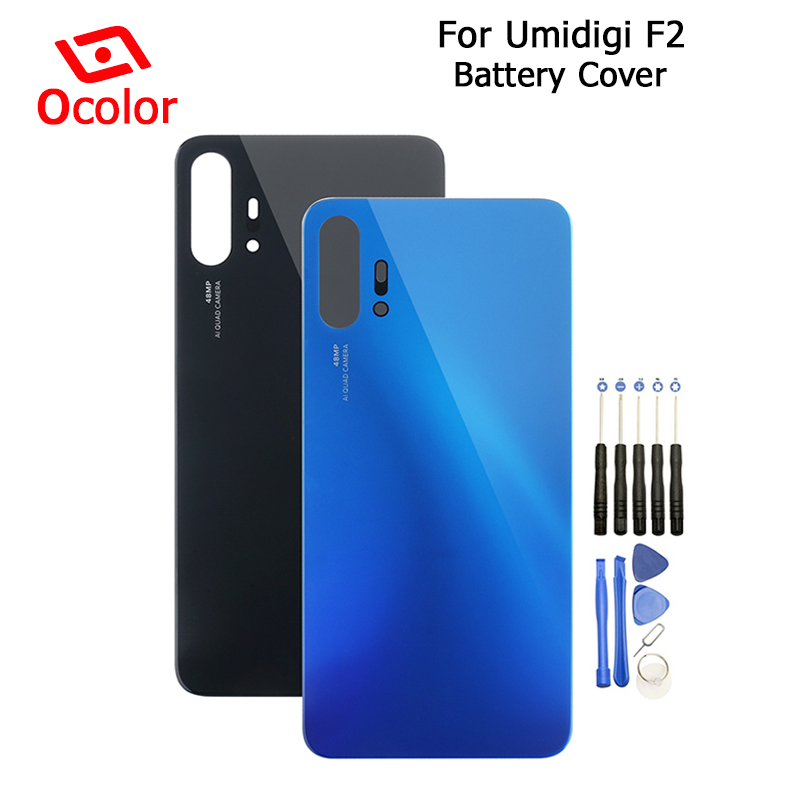 ocolor For Umidigi F2 Battery Cover 6.53'' Bateria Back Cover With Tools Replacement For Umidigi F2 Mobile Phone Accessories