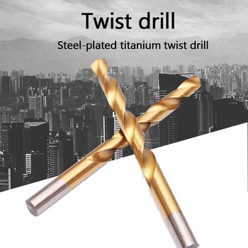 цена на 99pcs Twist Drill 1.5mm-10mm High Speed Drill Bit Set  Titanium HSS Drill Bits Coated Stainless Steel HSS For Electrical Drill