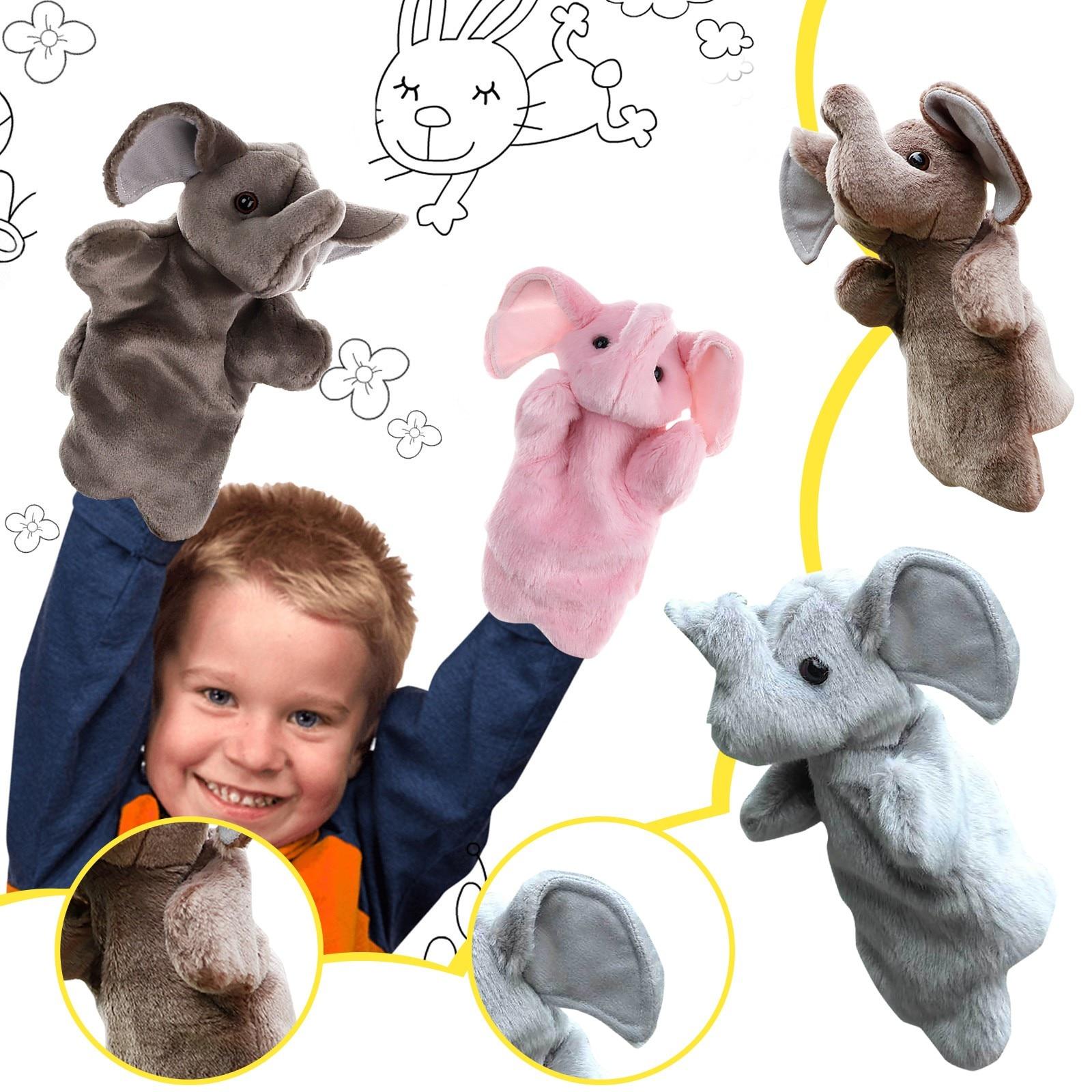 Handpuppen Elefanten Finger Spielzeug Nette Cartoon Tier Puppe Deckel Handschuh Handpuppe Plüsch Elefant Finger Spielzeug Muppe Kinder Geschenk