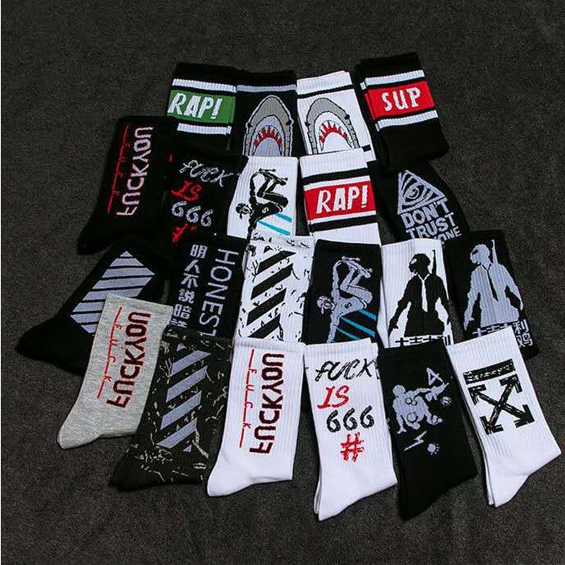 Factory Direct Creative Tide Socks Men's Cotton Sports Socks Men's And Women's Autumn Alphabet Long Basketball Socks