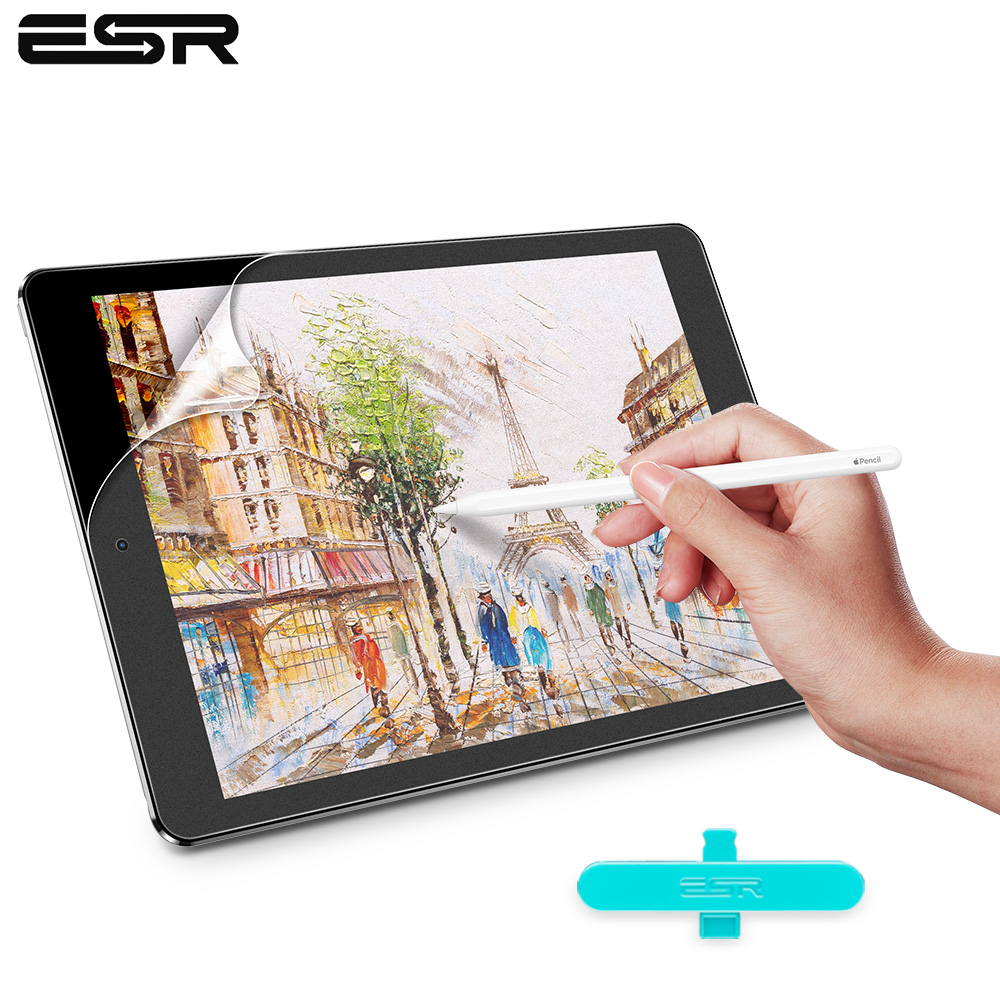ESR Paper Like Screen Protector For IPad Pro 9.7 10.2 10.5 11 12.9  Inch Painting PET Film For Apple IPad 7 Air 3 2 1 Mini 5 4