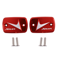 Brake Upper Pump Cover Applicable for Yamaha Xmax300 250 400 2017 2018 Universal Modified Oil Pot on the Pump Cover (Red)|Cilindro do servo freio|   -