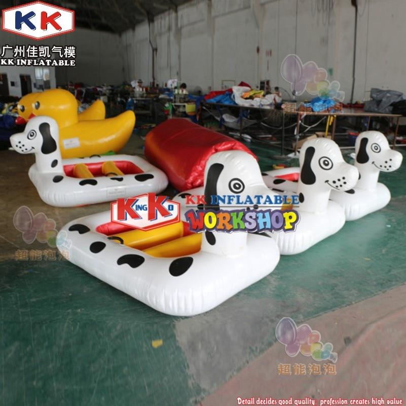 Fleck Dog Inflatable Cartoon Boat, Swimming Pool Use Floating Water Dog