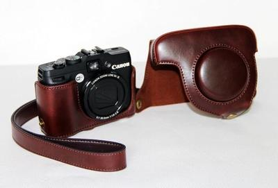 Fotográfica à Prova Bolsa de Corpo de Couro Case para Canon Dslr Câmera Água G10 G11 G12 Digital d' pu