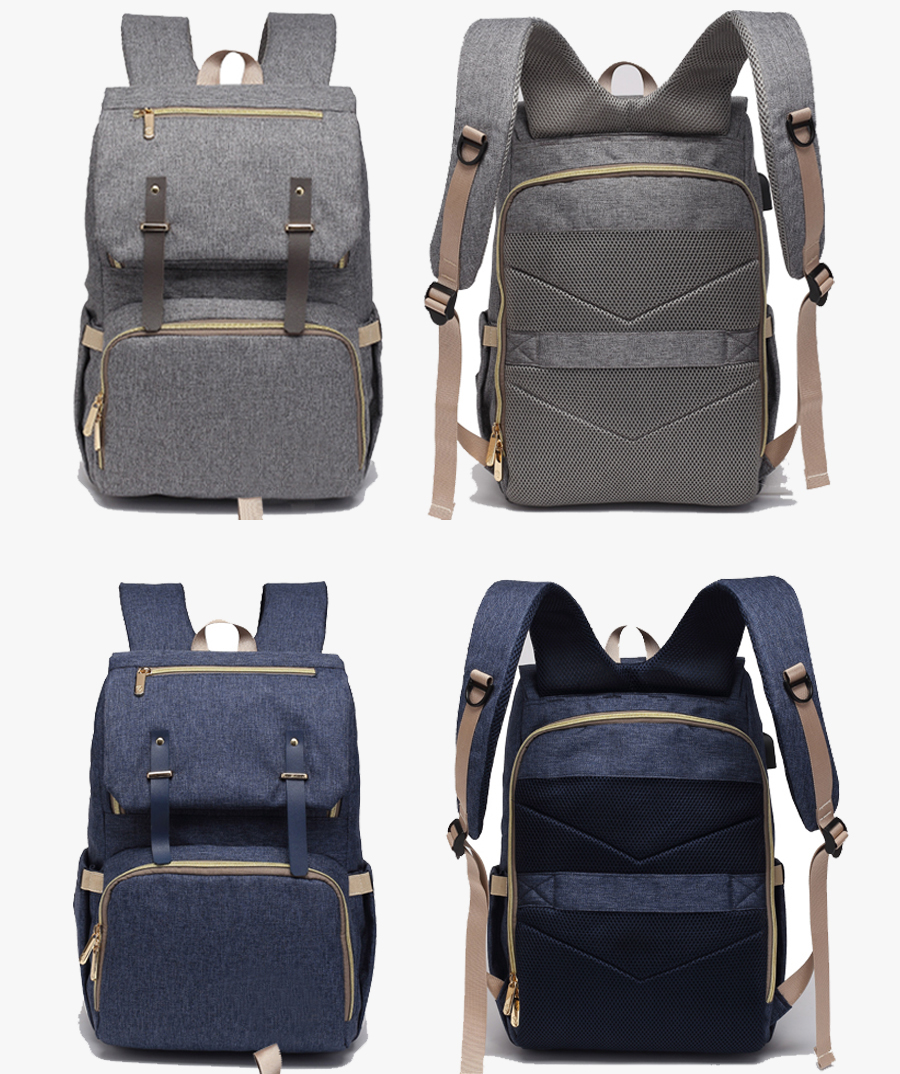 Hed88e354a1314433b7274f596ebc825e6 Baby Diaper Bag with USB Port Waterproof Nappy Bag Mommy Backpack Laptop Bag Maternity Bags With Rechargeable Bottle Holder